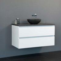 De kamer van badhandel badmeubel trend dynasty wit 80cm - Kleur wc trend ...